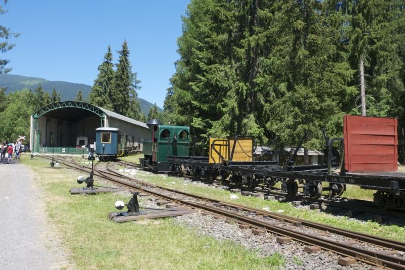 A pribilinai erdei vasút Liptó sűrű fenyvesei között található